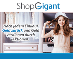 ShopGigant.de - Cashback und Online Shopping Club